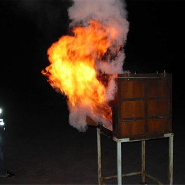Spektakuläre Brandvorführung