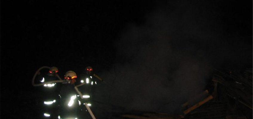 Brand eines Holzhaufens