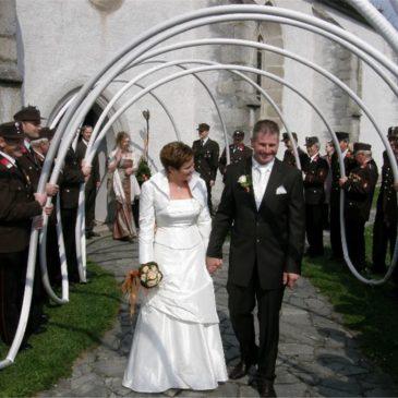 Wir gratulieren dem Hochzeitspaar