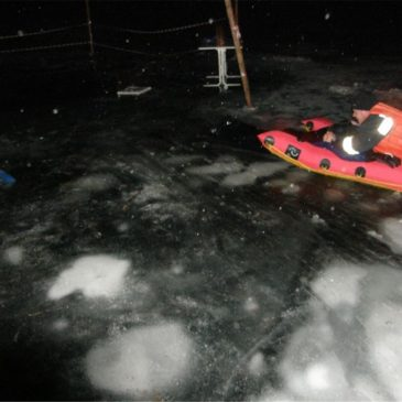 Eisrettungsübung am Badesee Feldkirchen