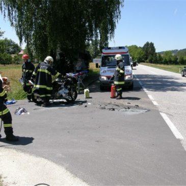 Motorradunfall in Pesenbach