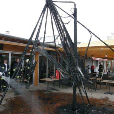 Brandeinsatz beim Badesee Feldkirchen