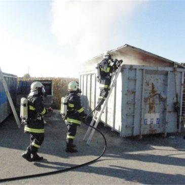 Containerbrand in Feldkirchen