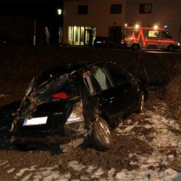 Fahrzeug Überschlag in Freudenstein