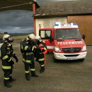 Brandübung mit der Feuerwehr Feldkirchen