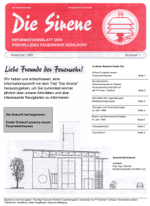 Die Sirene - Ausgabe1 (1995)