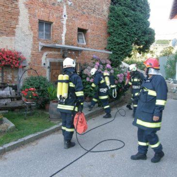 Brandübung beim Reiterhof Pfleger