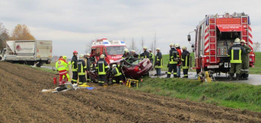 Tödlicher Verkehrsunfall auf der B131