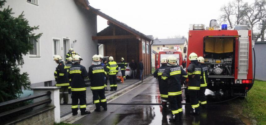 Brand eines Heizkamins in Pesenbach