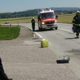 Verkehrsunfall B131-Kreuzung Rosenleiten
