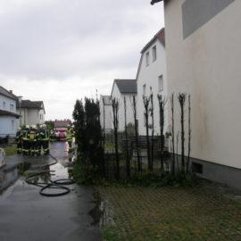 Erneut ein Heckenbrand in Feldkirchen