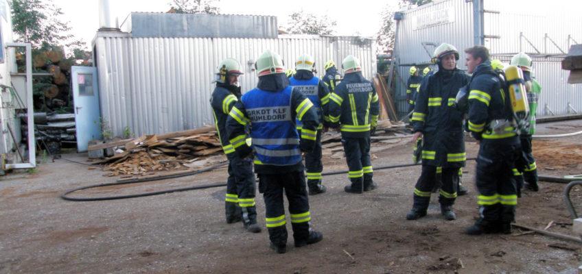 Brandeinsatz im Sägewerk