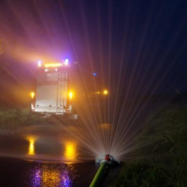 Übung zum Thema Löschwasserversorgung