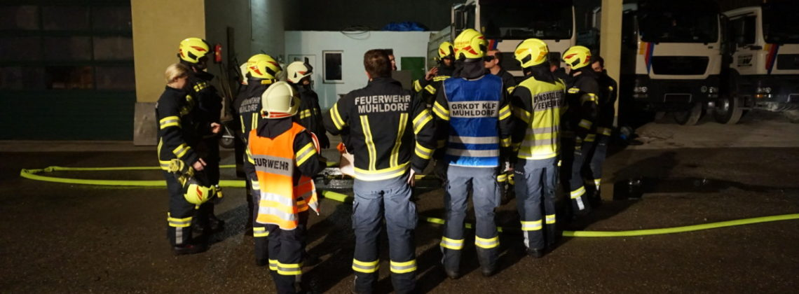 Brandeinsatzübung in Pesenbach