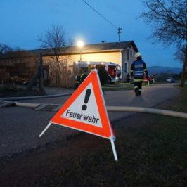 Gemeinsame Brandeinsatzübung mit der FF-Lacken