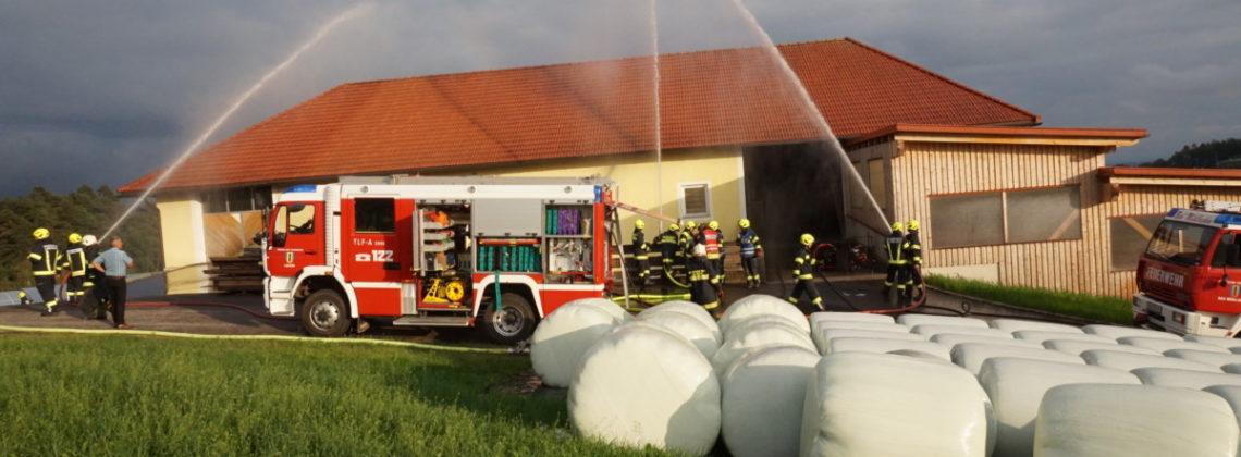 Pflichtbereichsübung: Brand Landwirtschaftliches Objekt in Lacken