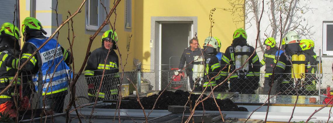 Kellerbrand in einem Wohnhaus