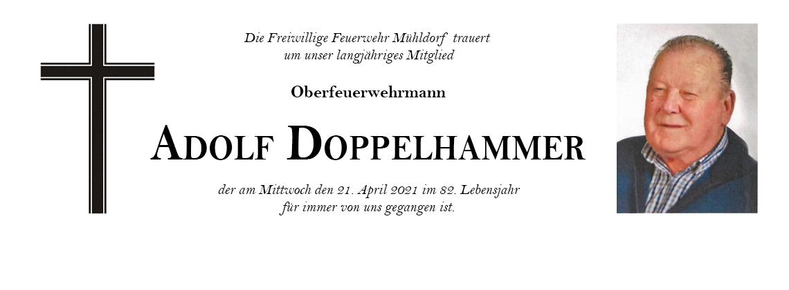 Nachruf für unseren Kameraden Adolf DOPPELHAMMER