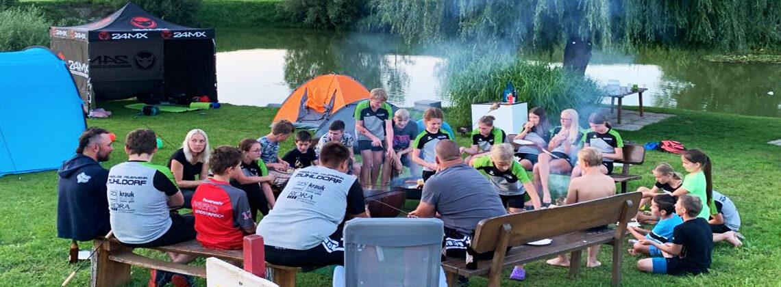 Jugendlager am Teich und ein interner Übungsbewerb